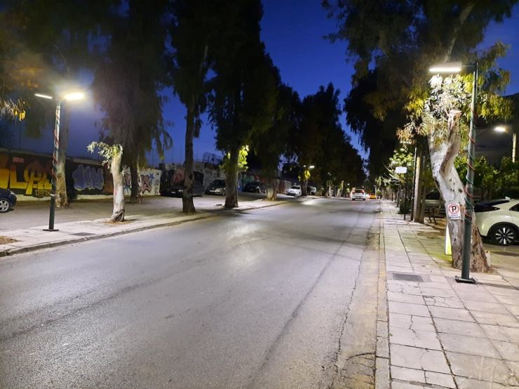 Αναβαθμίστηκε ο οδοφωτισμός στην οδό Ήρωος Μάτση