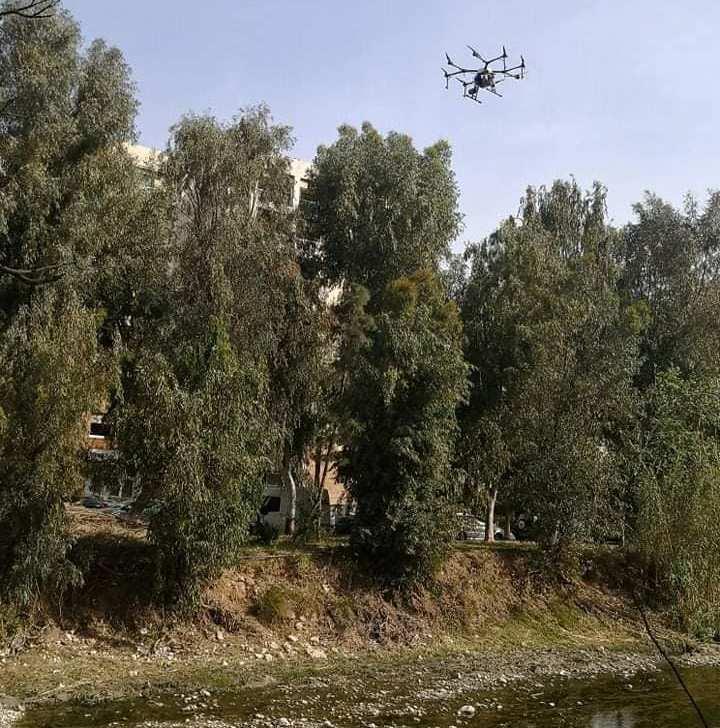 Ψεκασμοί με drone έγιναν στο ρέμα Πικροδάφνης