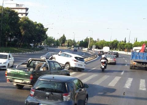 Τροχαίο ατύχημα στη λεωφόρο Ποσειδώνος