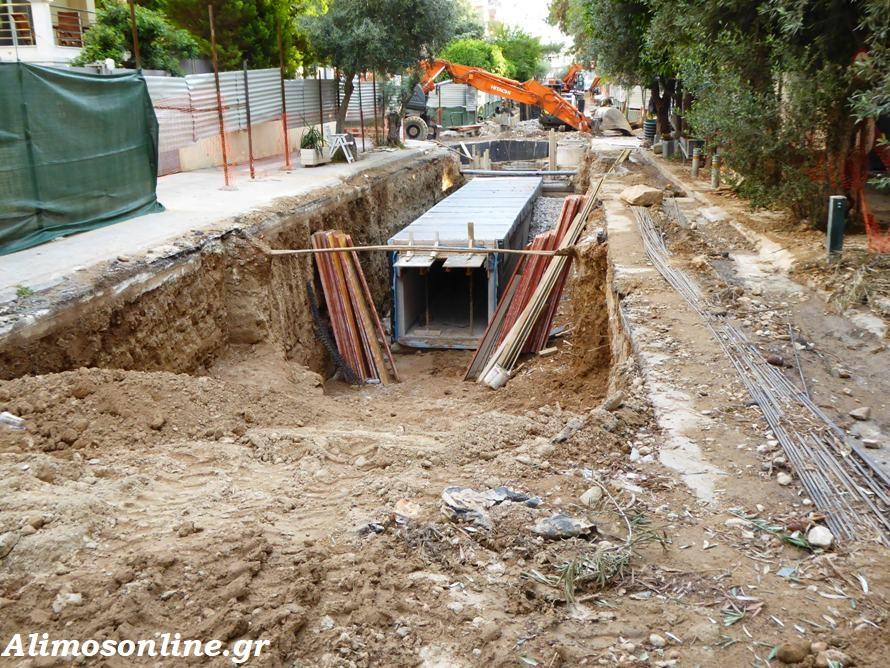 Προχωράει το αντιπλημμυρικό έργο της οδού Κανάρη