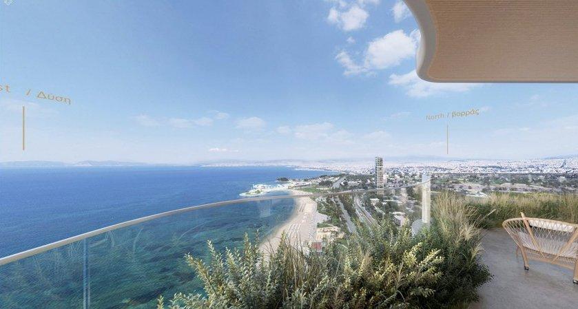 Η θέα από τον 42ο όροφο του Marina Tower στο Ελληνικό
