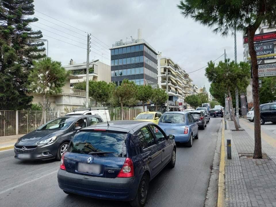 Κυκλοφοριακό κομφούζιο στους δρόμους του Καλαμακίου