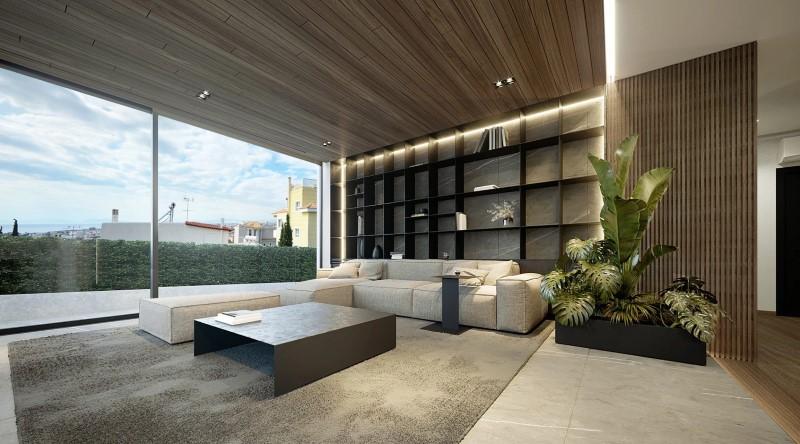 Ενα διαμέρισμα σε πολυκατοικία του '80 μετατράπηκε σε ένα ντιζαϊνάτο, σύγχρονο σπίτι
